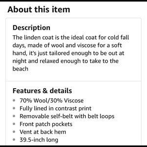 Carve Designs Jackets & Coats - NEW Carve Designs Linden Coat Wool Blend Jacket